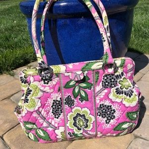 Vera Bradley Lime and Pink Purse